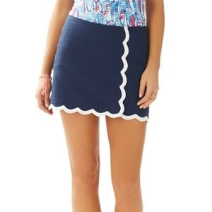 Lilly Pulitzer Michelina Mini Navy Scalloped Skort